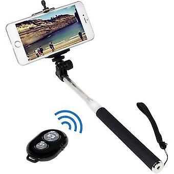 LogiLink BT0034 Selfie stick 8.7 cm 1/4 Black/silver incl. wrist strap