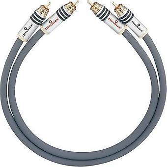 RCA audio/phono kabel [2x RCA plug (phono)-2x RCA plug (phono)] 4,75 m antraciet vergulde connectors Oehlbach NF 14 MASTER