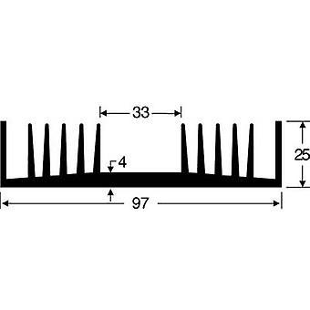 Fischer Elektronik SK 72 75 SA Heat sink 1.8 K/W (L x W x H) 75 x 97 x 25 mm