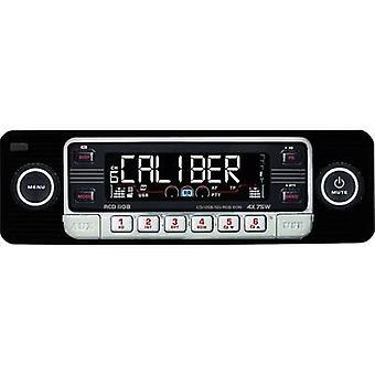 Kaliber lyd teknologi RCD-110 Schwarz bil stereoplaten retrodesign