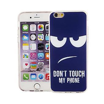 Handy Hülle für Apple iPhone 6 / 6s Cover Case Schutz Tasche Motiv Slim TPU + Panzer Schutz Glas 9H Dont Touch my Phone