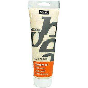 Pebeo Studio Acrylics Sand Texture Gel 250ml Tube (Yellow)