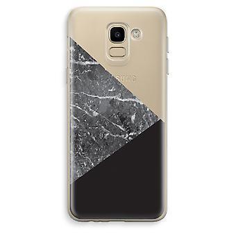 Custodia trasparente Samsung Galaxy J6 (2018) (Soft) - combinazione di marmo