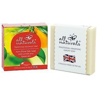 Tutti i prodotti naturali organici Acne sapone limone menta verde 100g