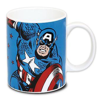 Captain America cup Marvel -sarjakuva posliinissa, ÷ 320 ml., sch÷ner-lahjalaatikossa.