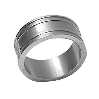 Stainless Steel Ring, Broad, Mat Metal