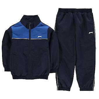 Slazenger Kids Woven Suit Infant Boys Tracksuit Zip Top and Bottoms