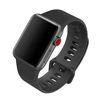 Apple Watch 38mm Silicone Strap Black