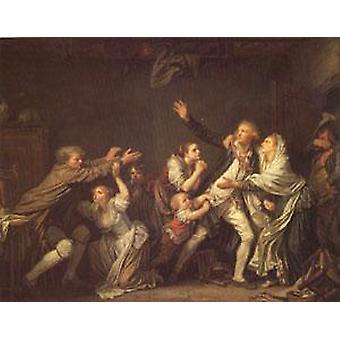 Отцовской проклятие или и неблагодарный сын, Жан-Батиста Греза, 50x40cm