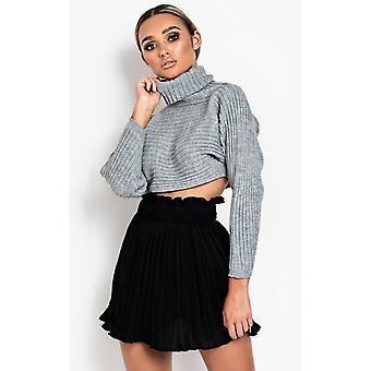 IKRUSH Womens Maarah Pullover Knit Jumper Crop