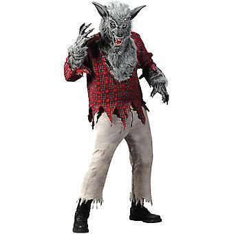 Grey Werewolf Adult Costume