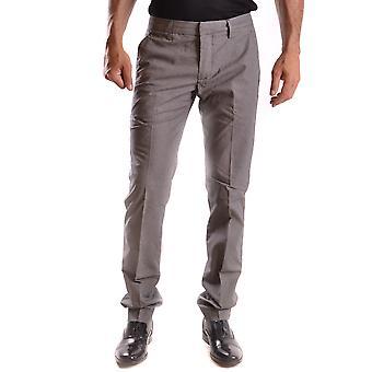 Dondup Ezbc051038 Men's Grey Cotton Pants