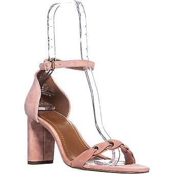 Coach Womens Heel Sandal Leather Open Toe Casual Ankle Strap Sandals