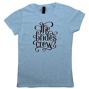 The Brides Crew Womens T-Shirt - Presente de Casamento sua mãe