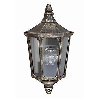 Elstead-1 lys halv lanterne-svart, gull finish-GZH/CKL7