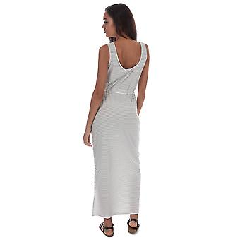 Womens Vero Moda Daina Striped Maxi Dress In Snow White / Night Sky