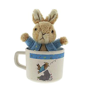 Children's Beatrix Potter Organic Mug and Soft Toy Set