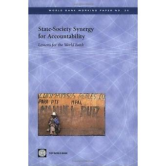 Sinergia de la sociedad del estado para la rendición de cuentas-lecciones para el Banco Mundial