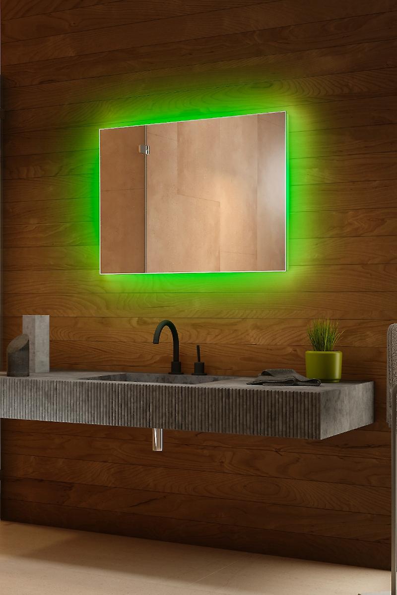 RGB audio rétro-éclairé miroir avec capteur, demister, rasoir k708BLrgbaud