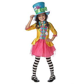 Mad Hatter Deluxe Disney Alice In Wonderland Story Book Week Girls Costume
