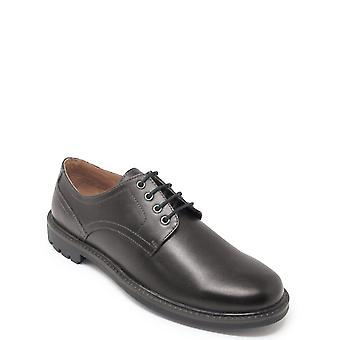 Chums Leather Lace Shoe With Rugged Outsole