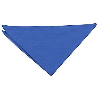 Royal Blue plain shantung Pocket Square