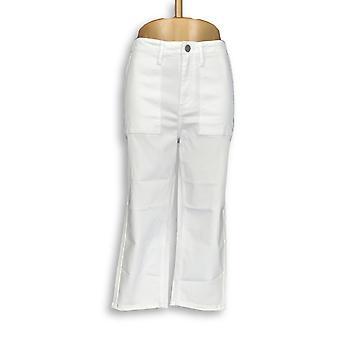 Susan Graver Femmes apos;s Jeans Stretch Twill Capris Blanc A304080