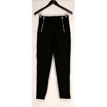 Kate & Mallory Pants Leggings w/ Front Zippers & Pocket De Green A426783