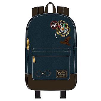 Harry Potter Hogwarts Logo Blauer Rucksack