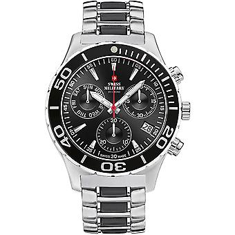 Swiss Military Swiss Quartz Analog Man Watch with SM34048.05 Stainless Steel Bracelet