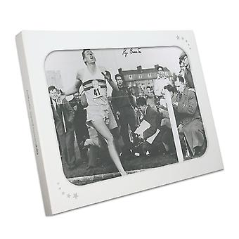 Roger Bannister signiert Foto: Zuerst unter Meile in 4 Minuten. In Geschenkbox