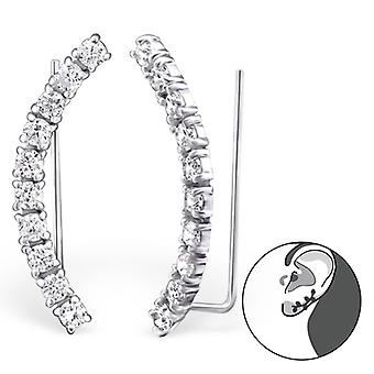 Curvo - puños de oreja de plata esterlina 925 - W24571X