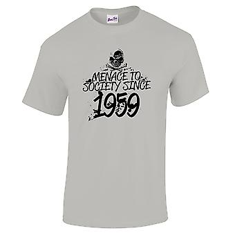 Men's 60th Birthday T-Shirt Menace Since 1959 Prezenty dla niego