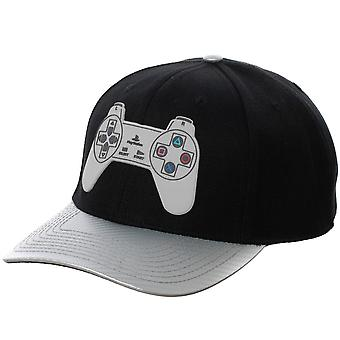 PlayStation Controller Black And Grey Adjustable Snapback Hat