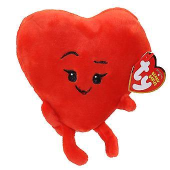 TY Baby Beanies Emoji Heart stuffed Animal Plush hearts