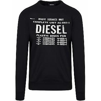 Diesel svart logo Pullover