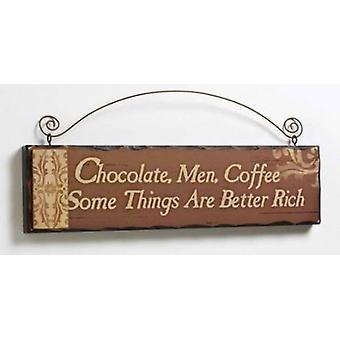 Sjokolade menn kaffe tre hengeren-sjokolade