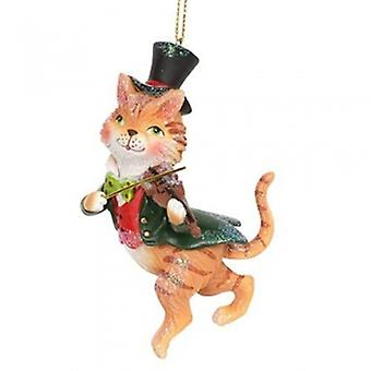 Gisela Graham Resin Cat and a Fiddle Decoration| Handpicked Gifts