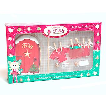 Girls Christmas Fairy Friendship Door With Washing Line & Outfits