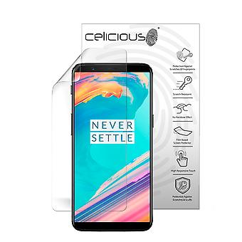 Celicious Vivid Plus Mild Anti-Glare Screen Protector Film Compatible with OnePlus 5T [Pack of 2]