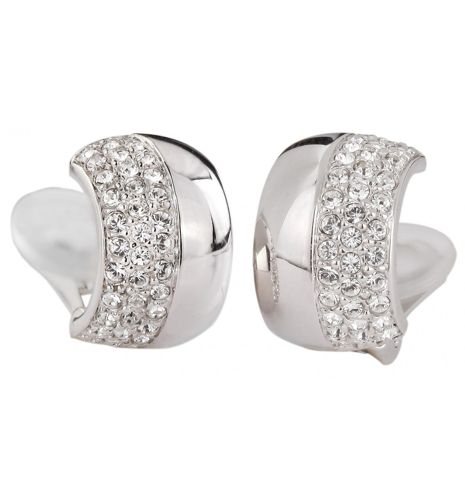 Traveller clip earring - rhodium plated - Swarovski Crystals - 156577