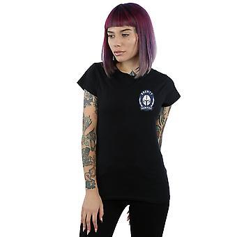 Star Wars Women's The Mandalorian Bounty Hunter Badge Breast Print T-Shirt
