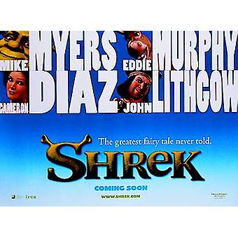 Shrek Original Cinema Poster