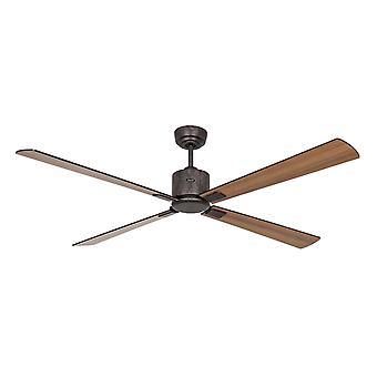Ventilatore a soffitto DC ECO NEO III 152 BZ Nero / Teak