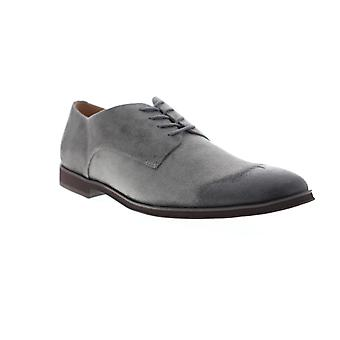 Steve Madden Uominis Grigio Suede Casual Pizzo Up Oxfords Scarpe