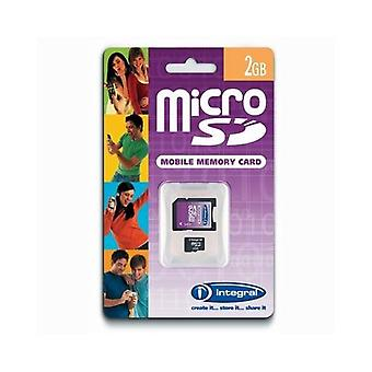 Integral 2Gb microSD card with SD adapter