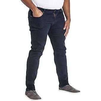 Duke D555 Homme Big Tall Tadcaster Strech Fit Straight Leg Trousers Jeans - Marine