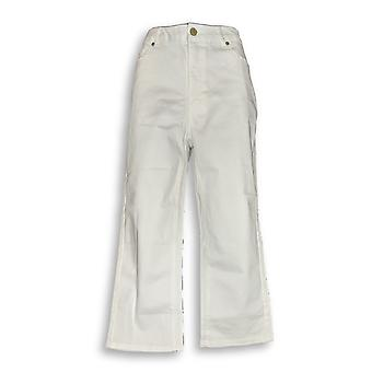 Isaac Mizrahi Live! Mujeres's Jeans Cropped White a274471