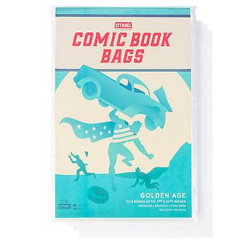 Golden Age Comic Book Bags, 100-pack