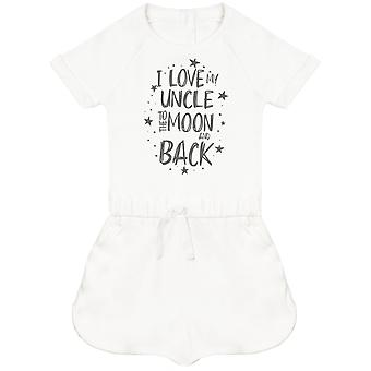 I Love My Uncle To The Moon And Back Baby Playsuit